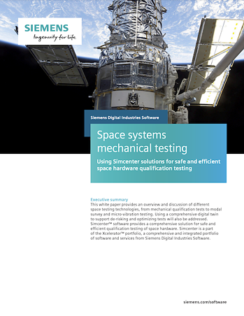 Space systems mechanical testing